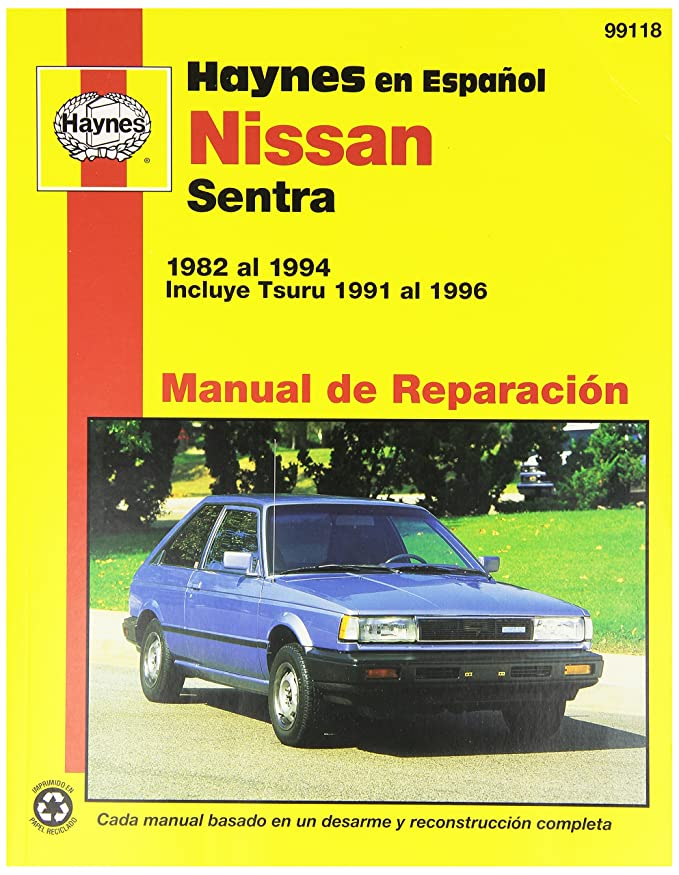 Amazon.com: Haynes Manuals 99118 Nissan Sentra,82-94 (Spanish): Automotive