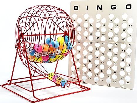 Bingo Balls Masterboard Professional Bingo Game Set with Large Bingo Cage