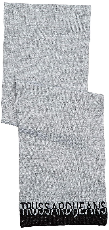 Trussardi Jeans Scarf Knit Misto Lana Logo Jac Sciarpa Donna