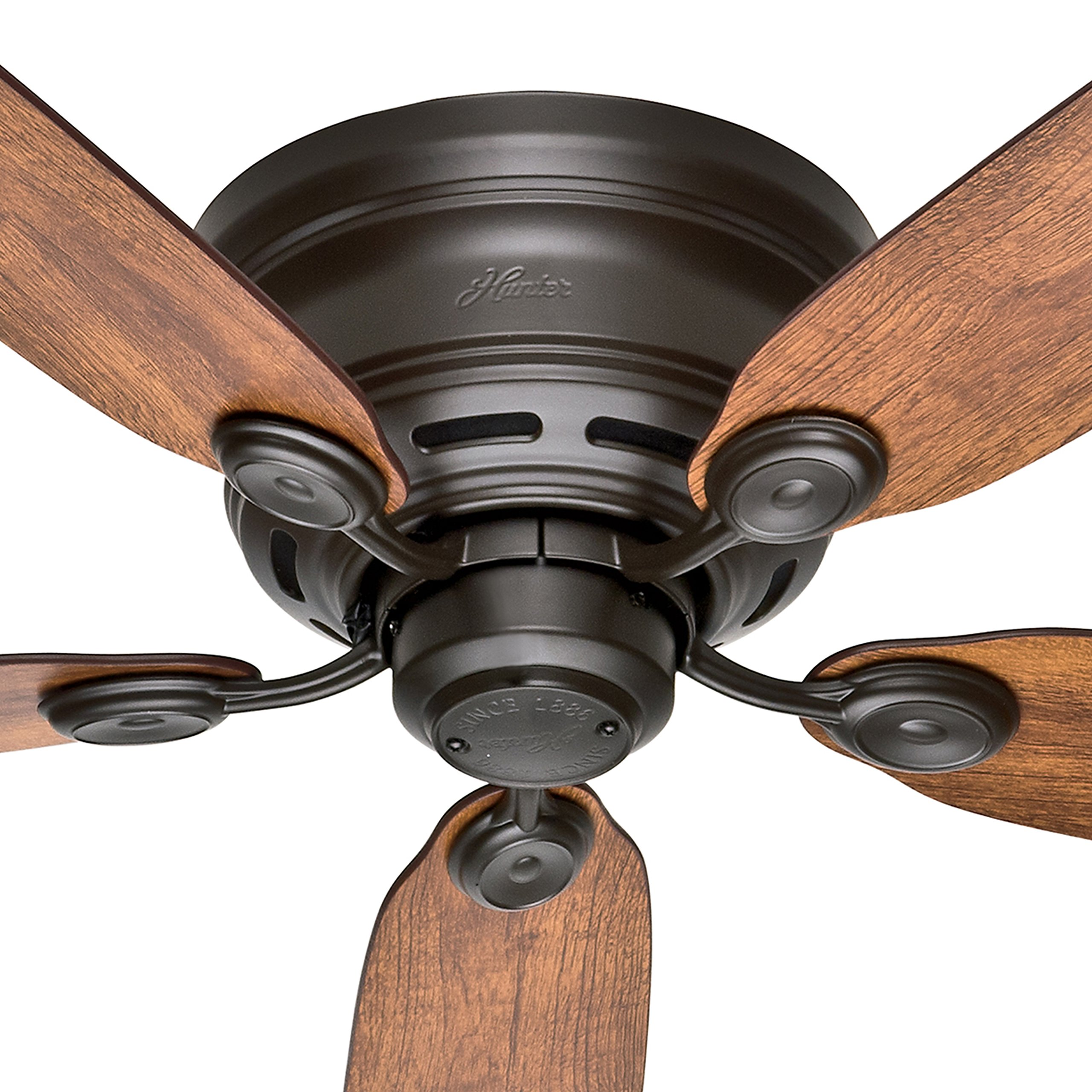 Hunter Fan 42'' New Bronze Finish Low Profile Ceiling Fan with Reversible Weathered Oak / Wine Country Blades (Certified Refurbished) by Hunter Fan Company (Image #3)