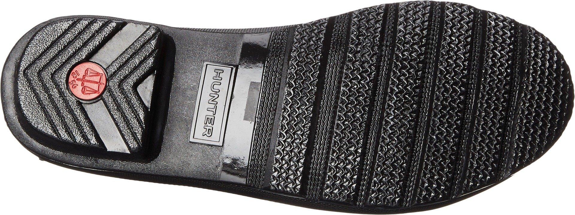 Hunter Boots Women's Original Chelsea Gloss Rain Boot Black 8 M US