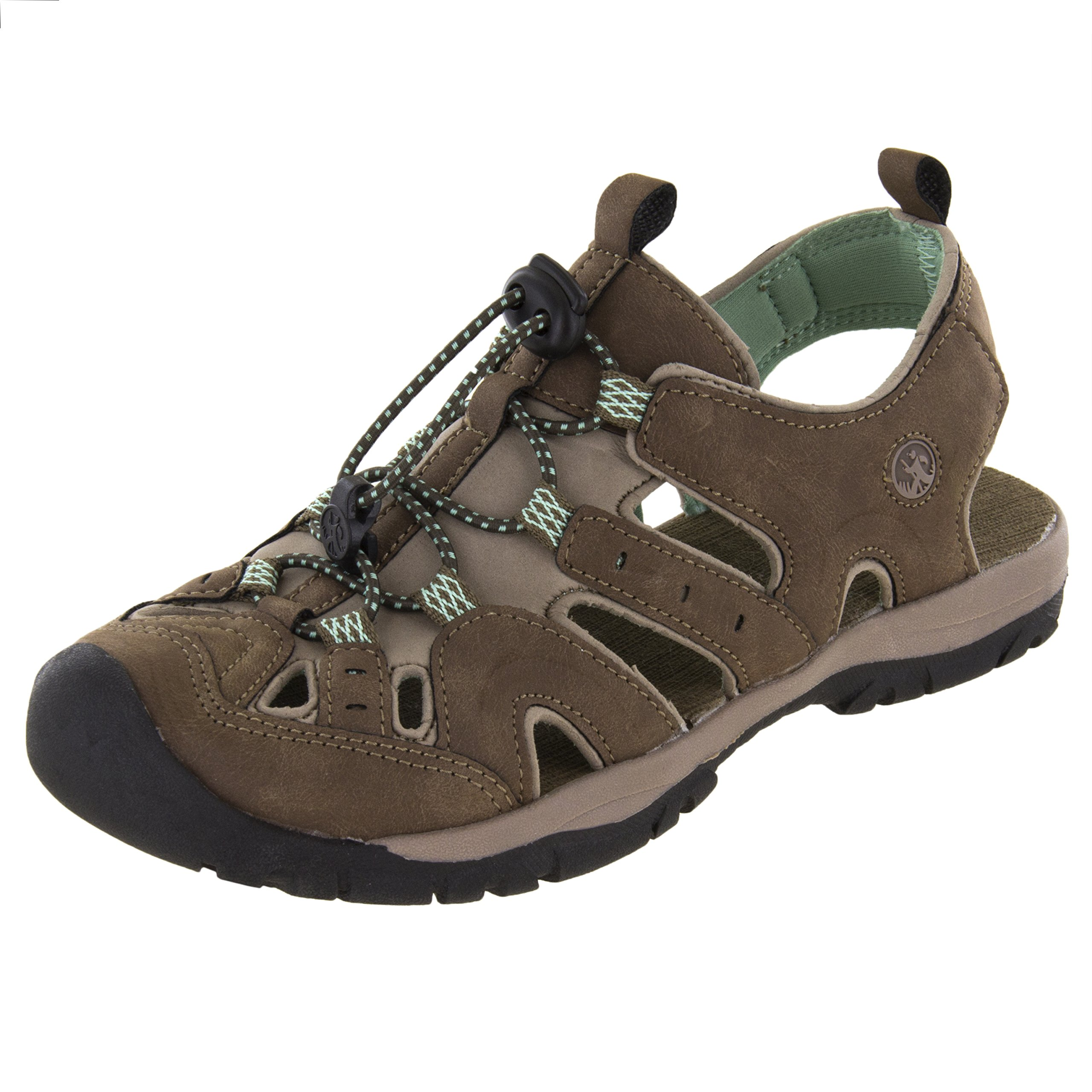 Northside Women's Burke II Athletic Sandal, Dk Brown/Sage, 7 B(M) US