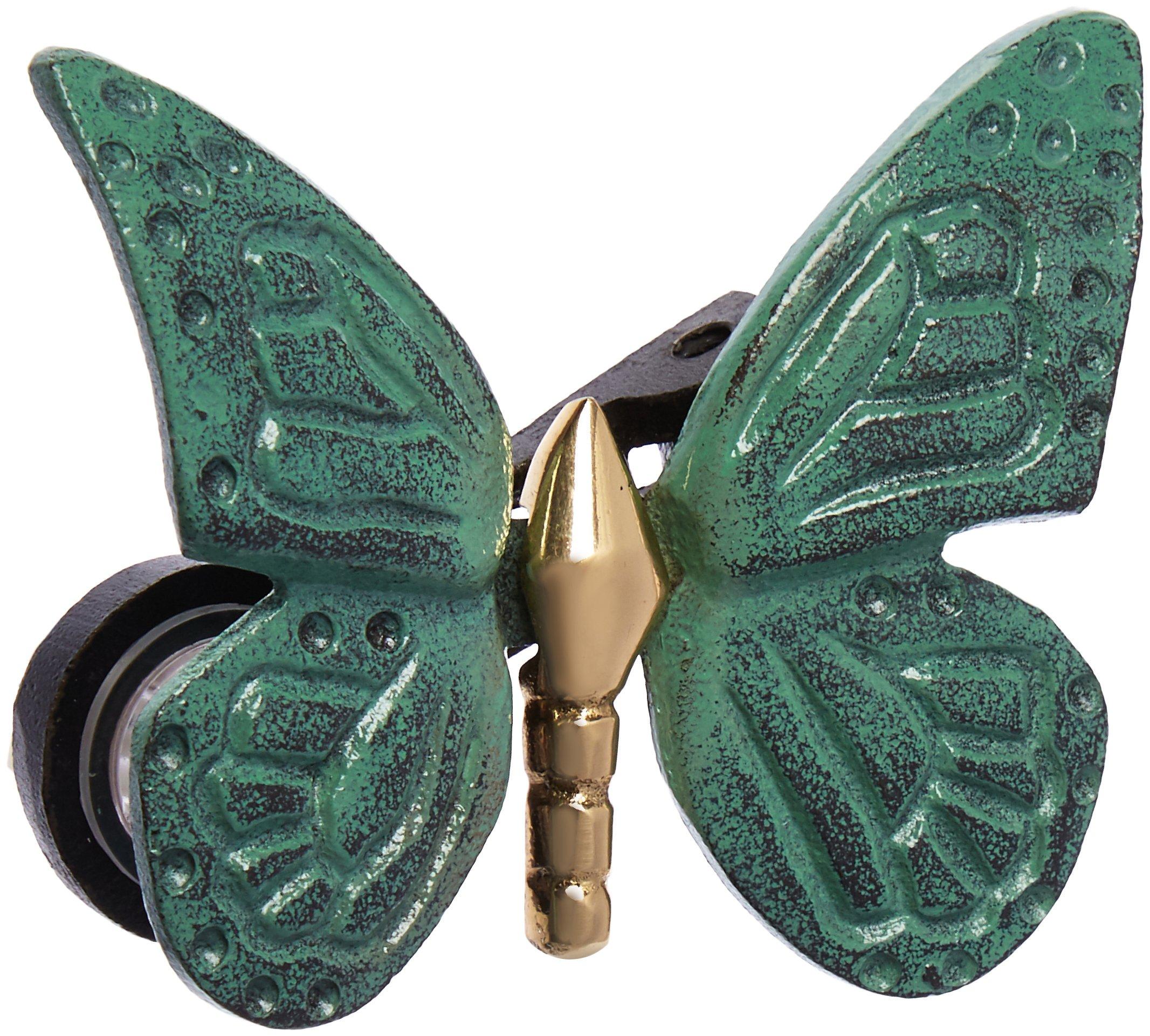 Monarch Butterfly Doorbell Ringer - Brass/Green Patina