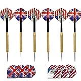 6 Pack Darts Set UK & US Flag Flights New - PLUS FREE SPARE FLIGHTS! MADE IN BRITAIN