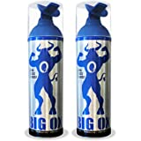 Pure Oxygen Can - Big Ox O2 Oxygen 6Lt Canister - 95% Pure Oxygen - 75 Breaths, 2 Seconds Each (2)