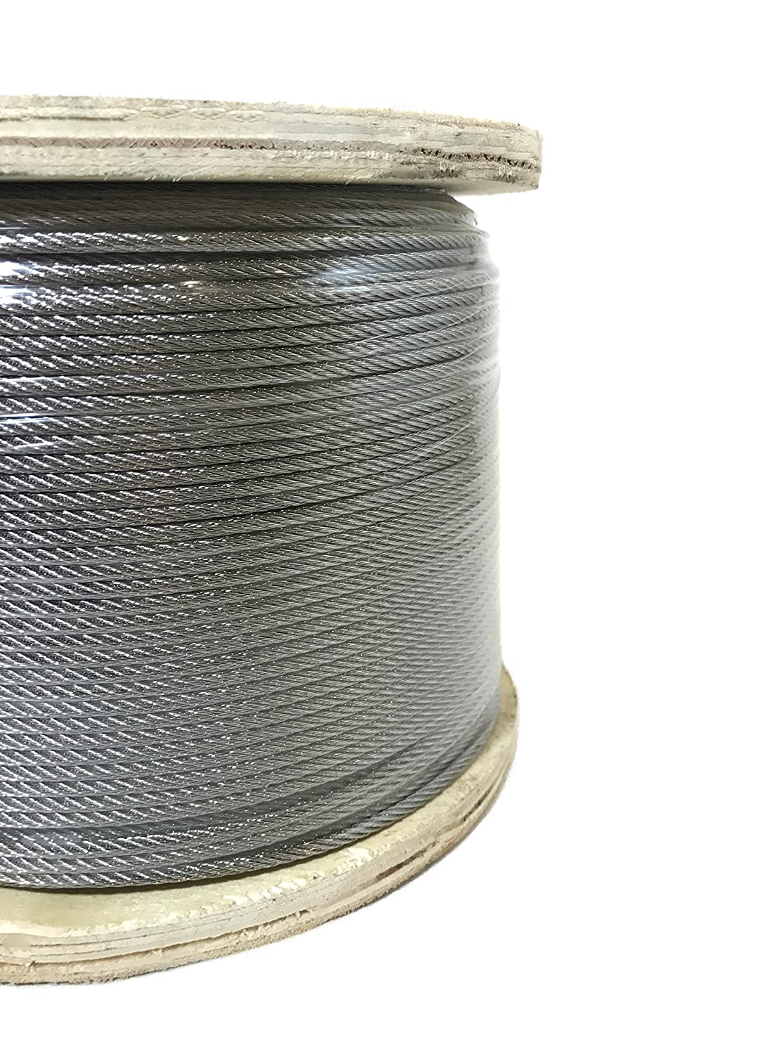 Image of 1/8' 7x7 Stainless Steel Cable Type 316 Marine Grade 500ft Reel Cable & Wire Rope