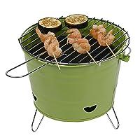 Arlington Green Holzkohlegrill Tepro klein grün Charcoal Grill Camping Balkon Picknick ✔ rund dreieckig ✔ tragbar ✔ Grillen mit Holzkohle ✔ mit Dreibeinen