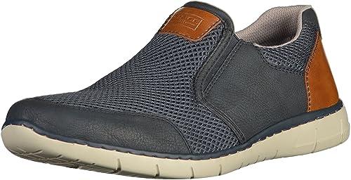 Mens 08976 Loafers, Blue, 7.5 UK Rieker