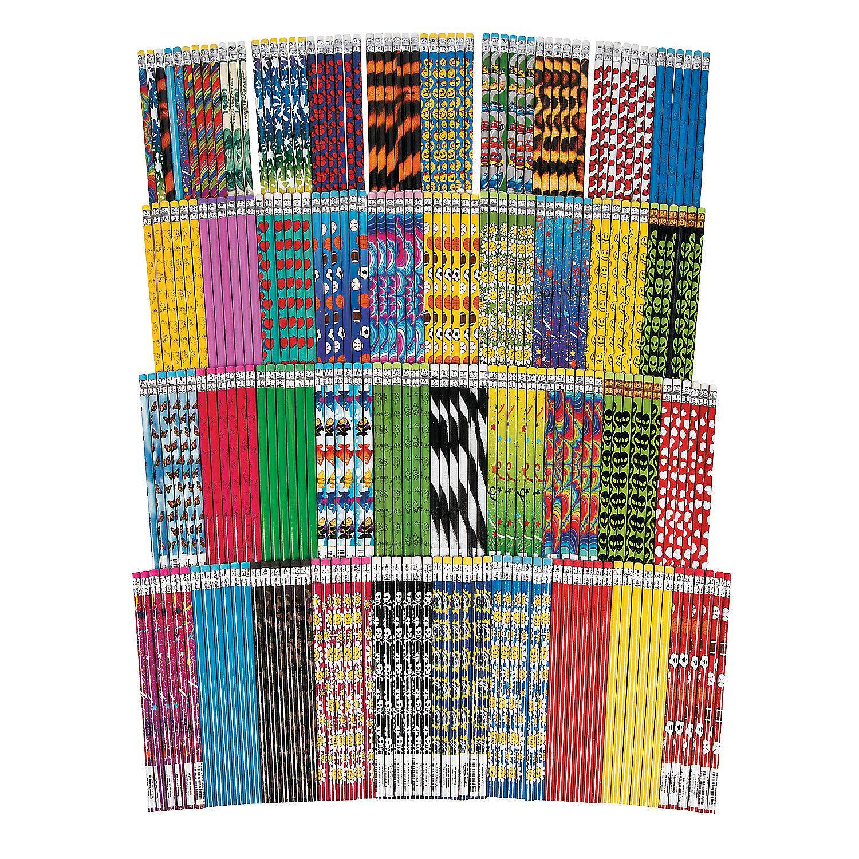 Fun Express - Mega Pencil Assortment (250 Bulk Set of Number 2 Pencils) by Fun Express