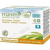 Masmi Chlorine-free Certified Organic Cotton Digital or Non-Applicator Plus Tampon 15 s