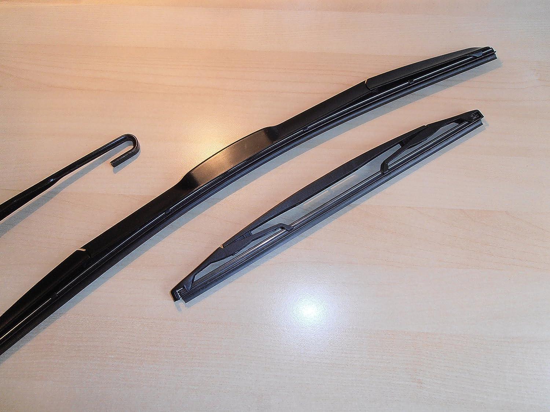 Limpiaparabrisas delantero y trasero, estilo híbrido, de 66 x 30,5 cm: Amazon.es: Coche y moto