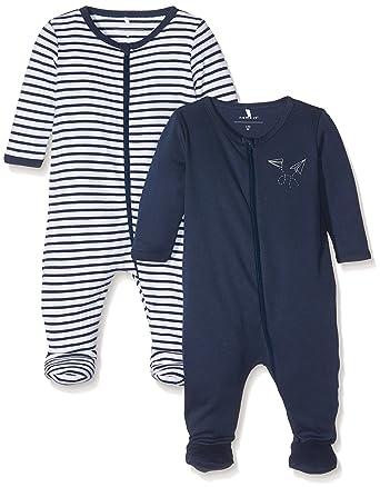 2er Pack NAME IT Baby-Jungen Schlafstrampler