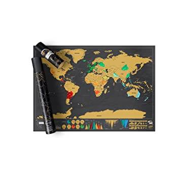 Scratch map deluxe edition personalised world map poster travel scratch map deluxe edition personalised world map poster travel gift luckies of london publicscrutiny Image collections