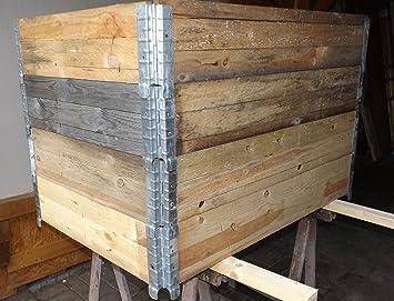 4 Stk Set Palettenrahmen Aufsatzrahmen Stapelrahmen Hochbeet Amazon