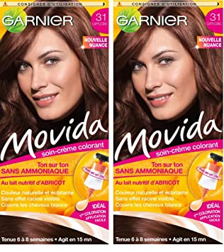garnier movida coloration temporaire sans ammoniaque chtain 31 cappuccino lot de 2 - Coloration Cheveux Cappuccino