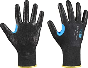 Honeywell CoreShield, 13 gauge HPPE/stainless steel black liner, smooth nitrile black coating, A5/E
