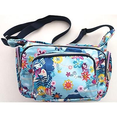 Lightweight Nylon Crossbody Messenger bag with Zipper Pockets