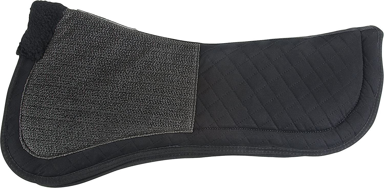 Black Large Success Equestrian Deluxe Dressage Friction Free NO Slip Saddle Pad