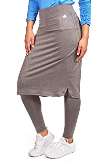 83b44cb950 Amazon.com: Snoga Modesty Workout Athleisure Skirt with 3/4 Leggings ...