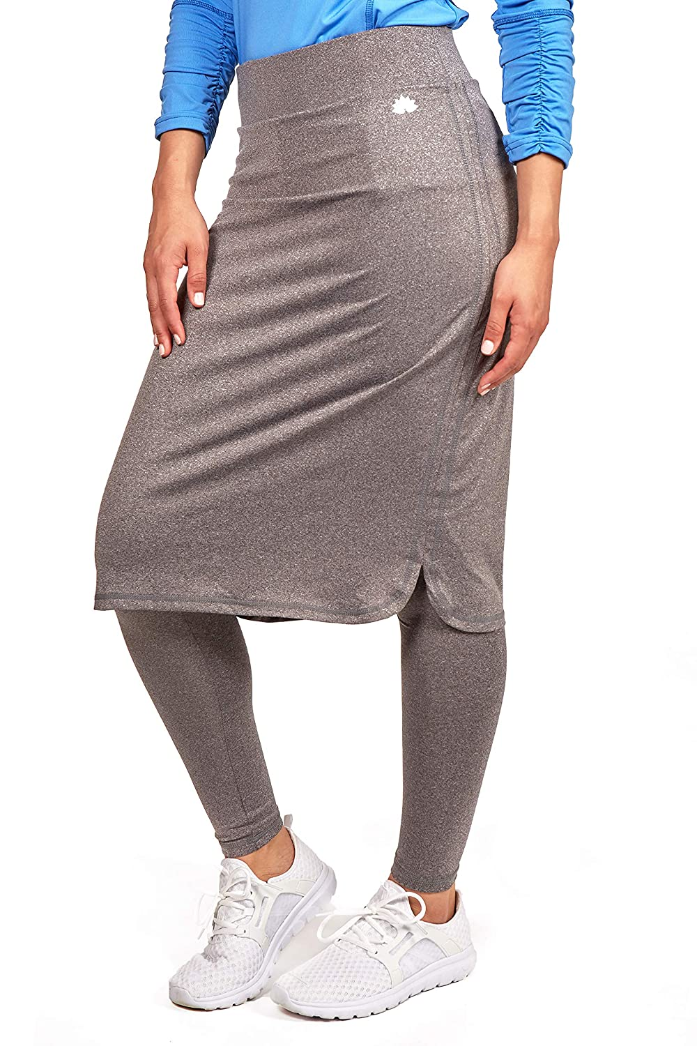88eacbb8f Amazon.com: Snoga Modesty Athletic Wear - Yoga Pants w/Attached Skirt:  Clothing