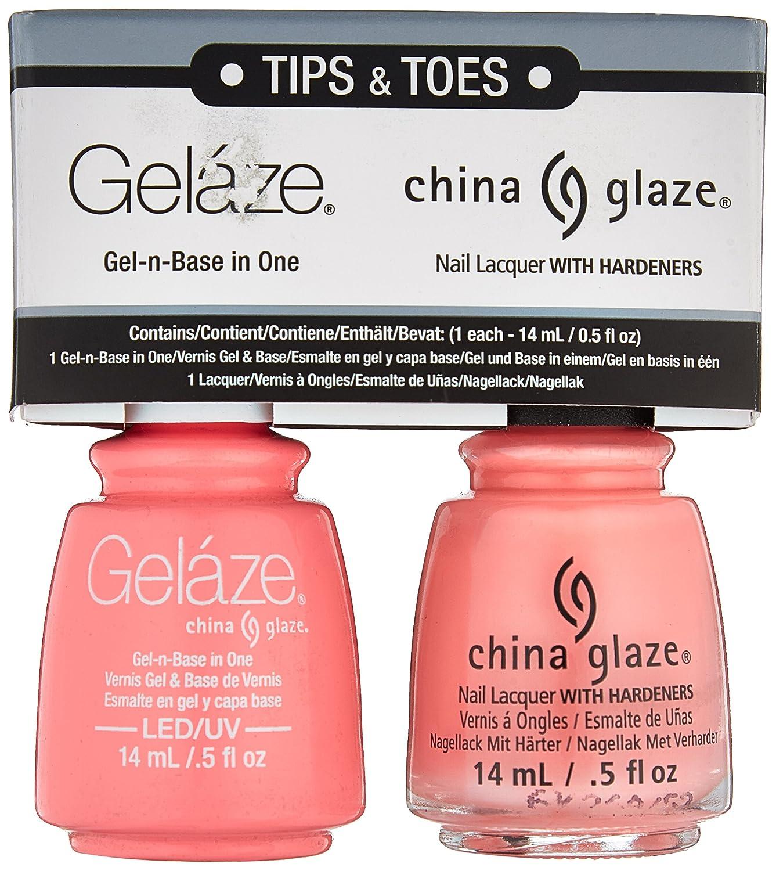 Amazon.com : China Glaze Gelaze Tips and Toes Nail Polish, Neon & On ...