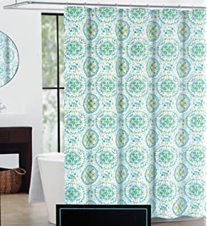 gray and orange shower curtain. Cynthia Rowley Fabric Shower Curtain Green Blue Medallion Pattern  Happy Elephant Amazon com
