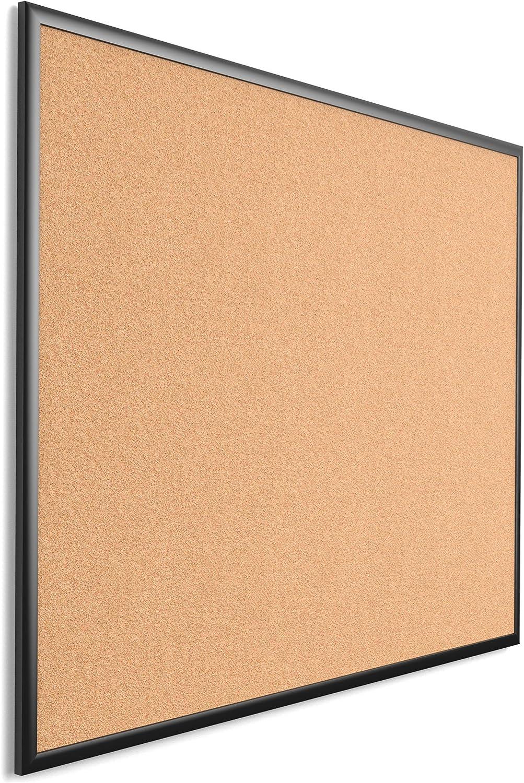 Black Aluminum Frame 2880U00-01 35 x 23 Inches U Brands Cork Bulletin Board