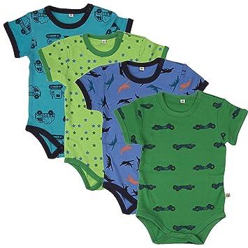 ae76459feb259f Pippi 4er Pack Baby Jungen Body mit Aufdruck