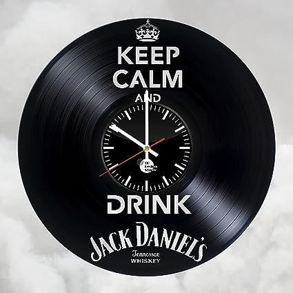 Amazon.com: Jack Daniels Vinyl Record Wall Clock - Get unique Home ...