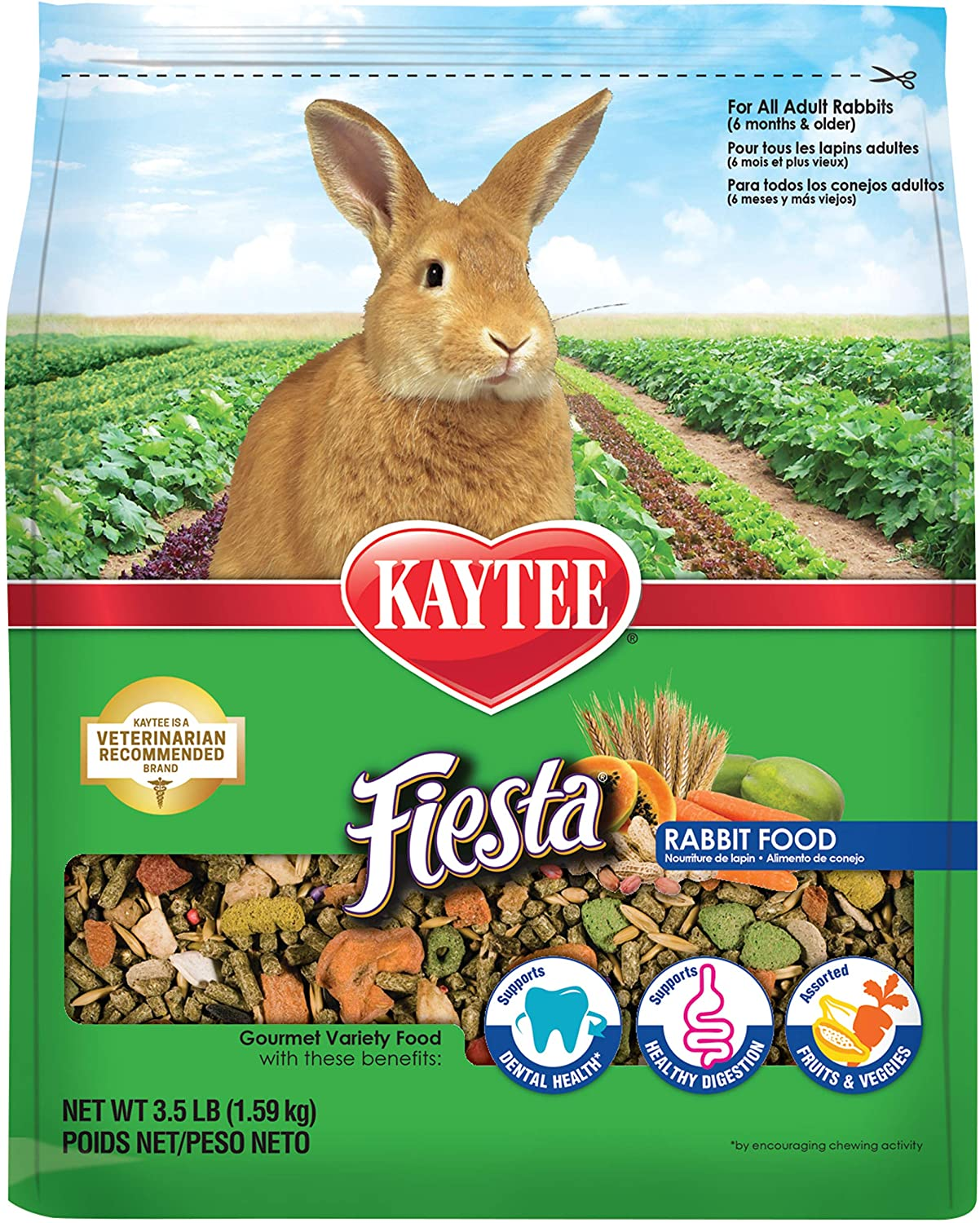 Kaytee Fiesta Rabbit Food 3.5 lb