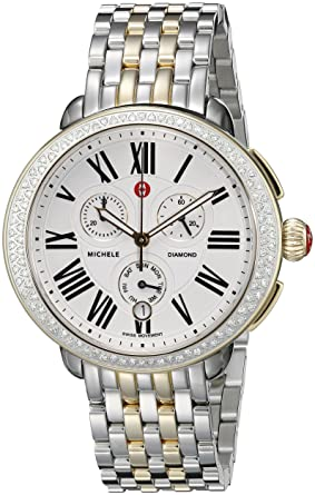9f9d15aa9 Image Unavailable. Image not available for. Color: MICHELE Women's  MWW21A000008 Serein Analog Display Swiss Quartz Silver Watch