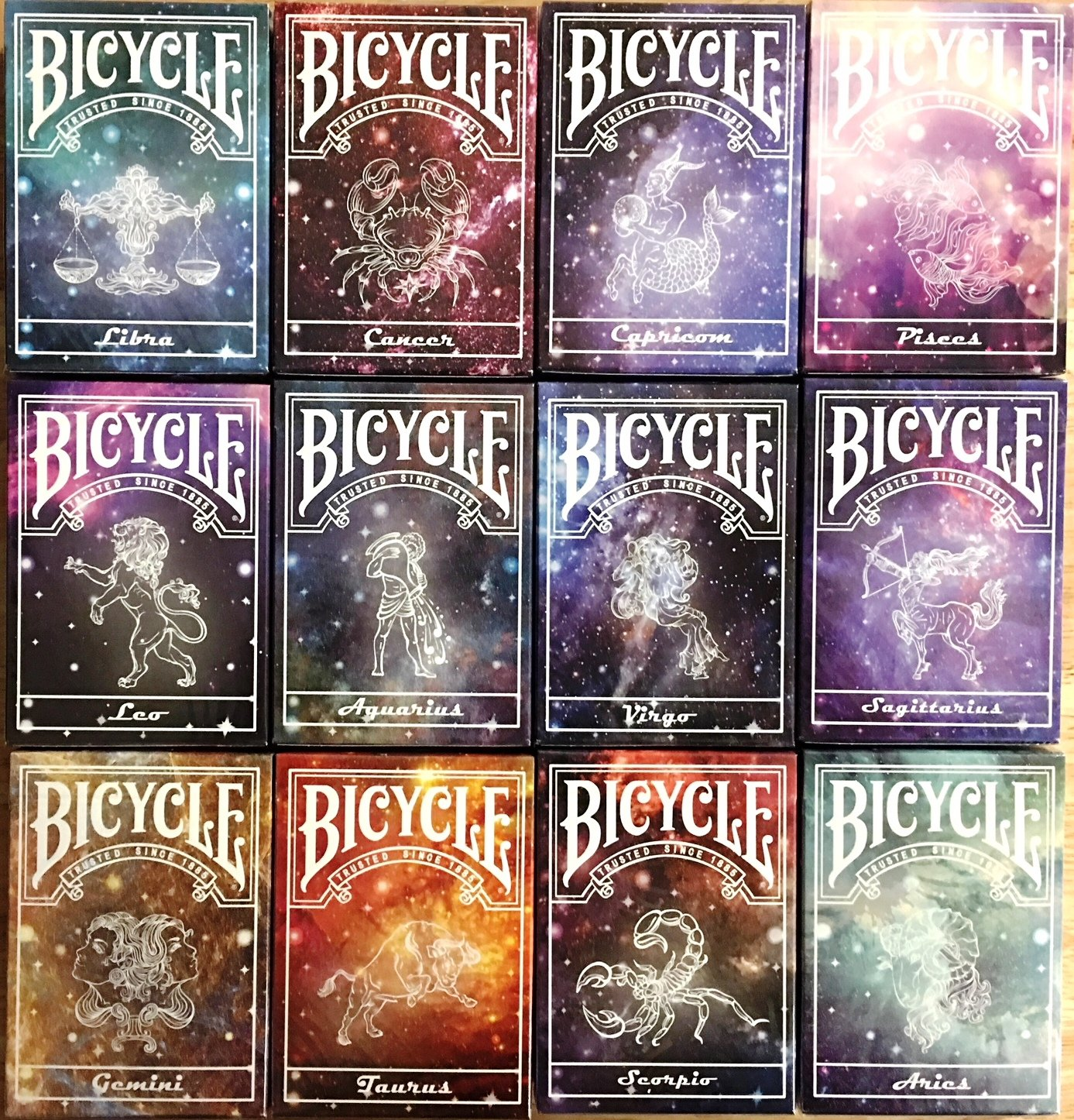 Constellation Bicycle Playing Cards - 12 Designs (12 Deck Set)