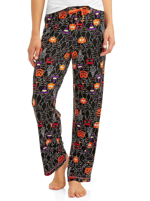 Women's Halloween Jersey Cotton Drawstring Pajama Sleep Pants (Small-3XL)