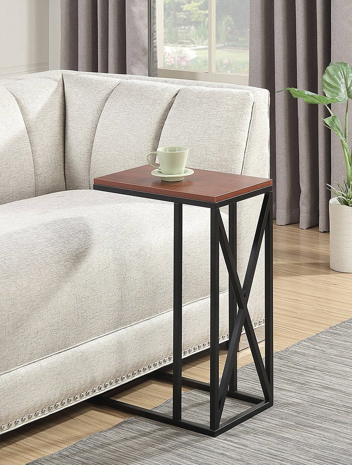 Indoor Multi-function Accent table Study Computer Desk Bedroom Living Room Modern Style End Table Sofa Side Table Coffee Table End The Table