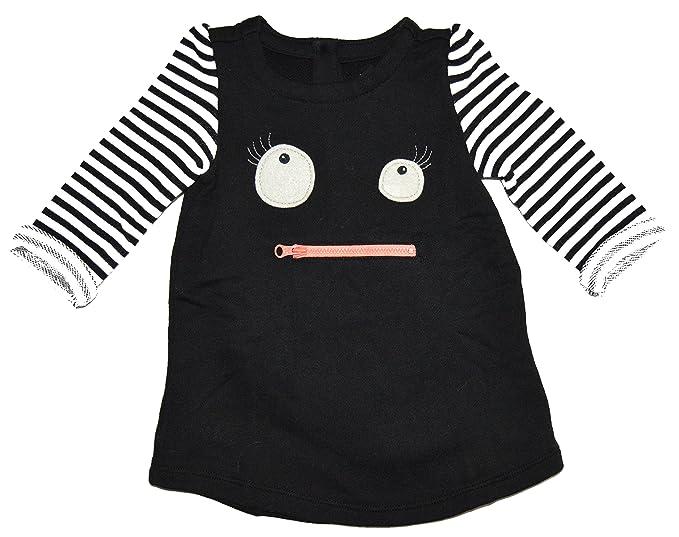 9e0ef3fb9ad0 Amazon.com  BabyGap Baby Gap Black Stripe Monster Sweatshirt Dress 3 ...