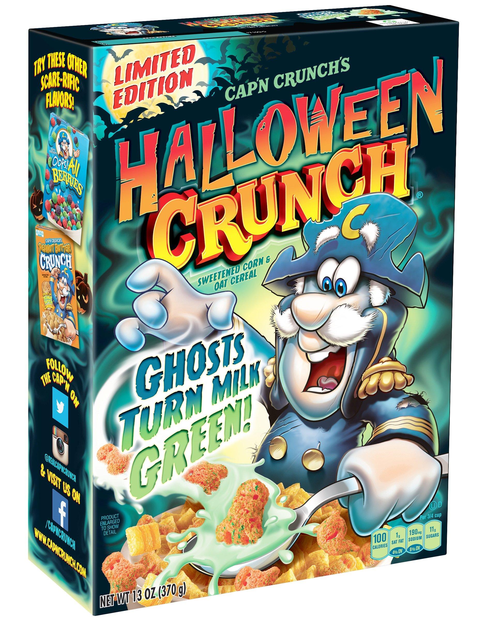 Cap'n Crunch Halloween Crunch Cereal - Your Milk Turns Green 13 oz. (Pack of 2)