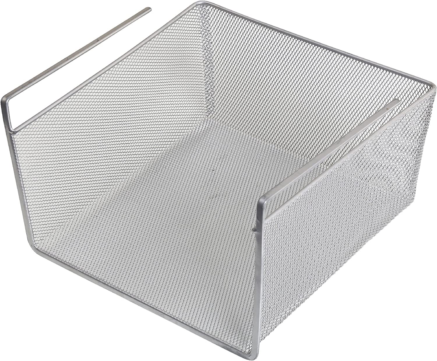 YBM Home Under Shelf Basket - Mesh Stainless Steel Storage Under Cabinet Hanging Basket Rack Maximize Space in Cabinets, Pantry Room, Bathroom, Laundry Room, and More, 1614