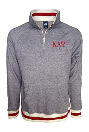 Mega Greek Mens Kappa Alpha Psi Fleece Quarter Zip Pullover XXX-Large Red