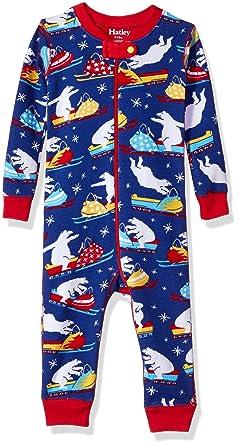 Hatley 100% Organic Cotton Waffle Sleepsuit, Pelele para Dormir para Bebés, Azul (