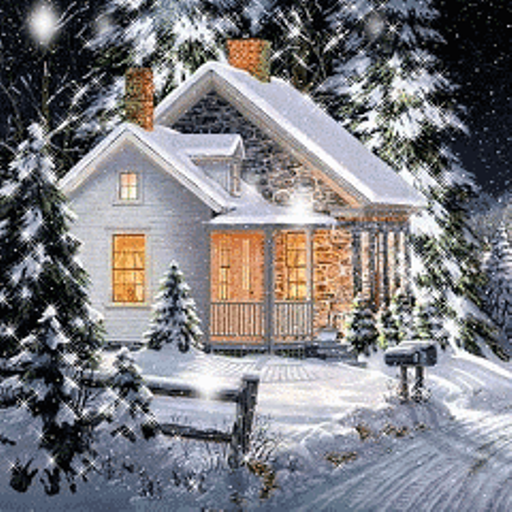 snow covered house - photo #8