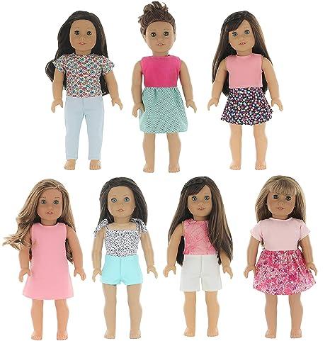 c7e93190f0b2 Amazon.com  PZAS Toys 7 Outfit Set