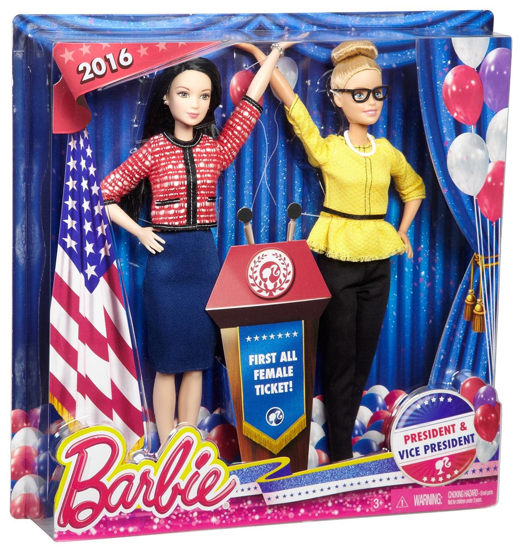 Barbie President /& Vice President Dolls 2 Pack