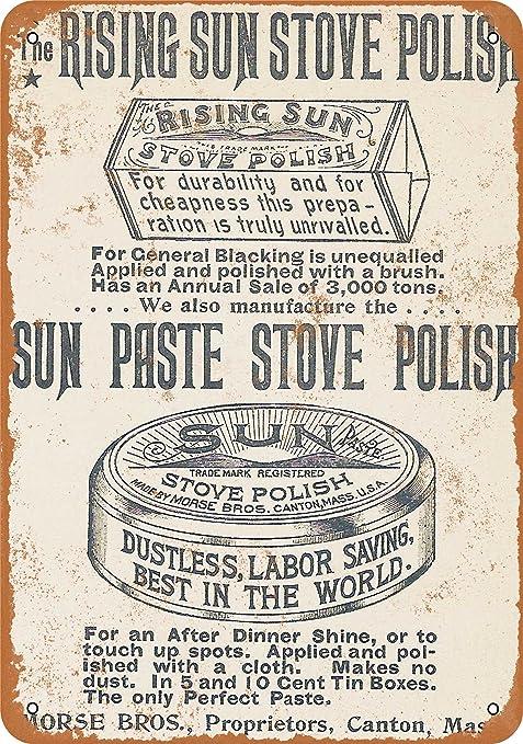 1895 estufa polaco reproducción de aspecto Vintage Metal Sign