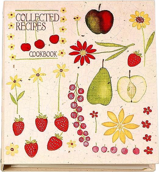 Botanical Holders Recipe Card Storage /& Organization Cookbook Binder Organizer