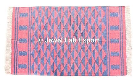 Amazon.com: Cotton Rug Cotton Floor Mat Handloom Yoga Mat Cotton ...