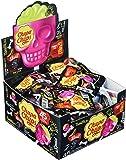 Chupa Chups Skull 3D Lutscher, 45er Thekendisplay, Totenkopf-Lollis, Erdbeer-Limette Geschmack