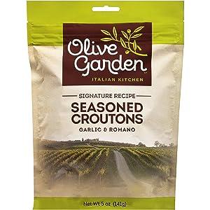 Olive Garden, Seasoned Croûtons, Garlic & Romano, 5oz Bag (Pack of 3) by Olive Garden