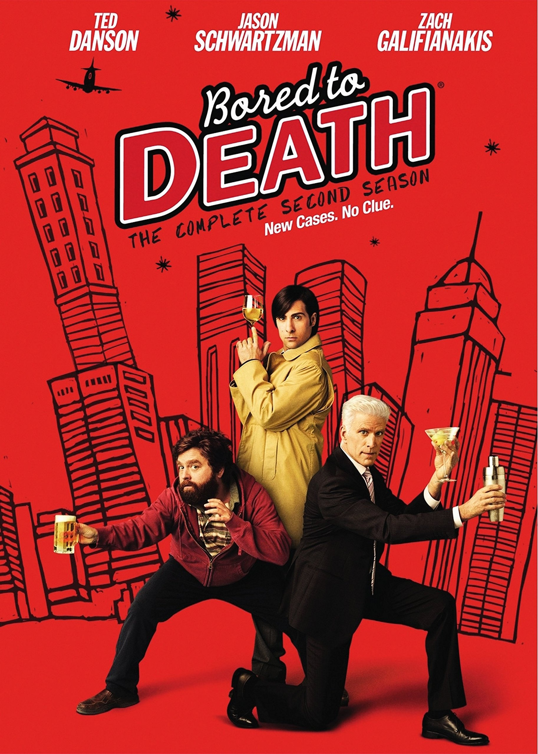 DVD : Bored to Death: The Complete Second Season (, Dubbed, Digipack Packaging, Slipsleeve Packaging, Dolby)