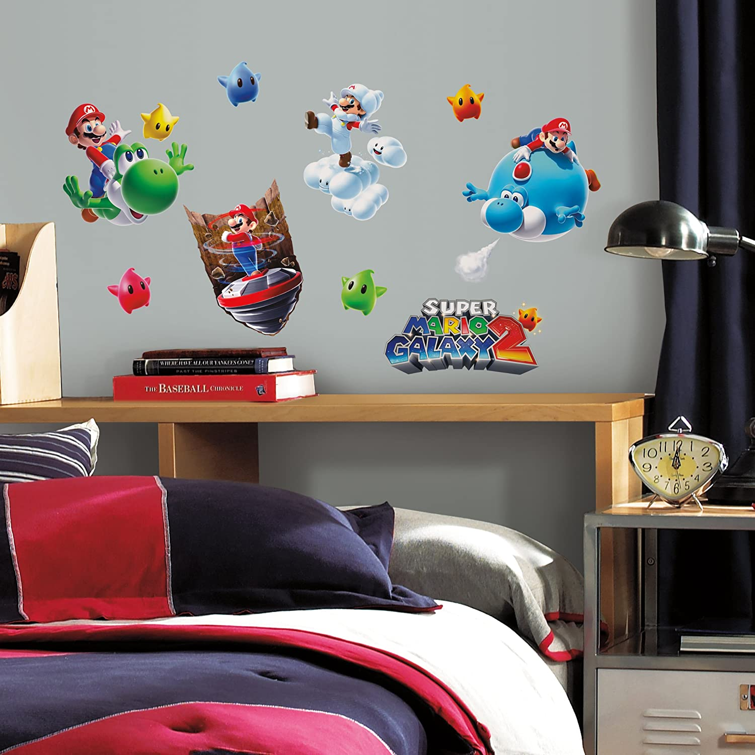 Roommates 871scs nintendo mario galaxy 2 peel and stick wall roommates 871scs nintendo mario galaxy 2 peel and stick wall decals wall decor stickers amazon amipublicfo Image collections