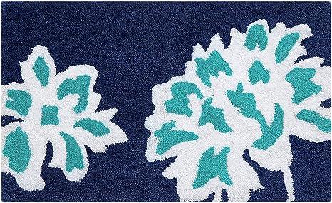 Vera Bradley Cloud Vine 100 Cotton Mat Bath Rug 21 W X 34 L Blue Home Kitchen